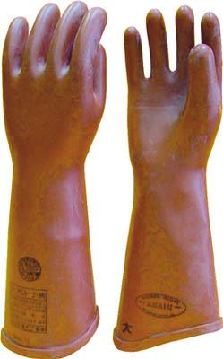 ワタベ 高圧ゴム手袋410mm大 【1双】【510L】(作業手袋/絶縁手袋)