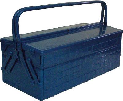 TRUSCO(トラスコ) 2段式工具箱 472X220X289 ブルー 【1個】【GL470B】(工具箱・ツールバッグ/スチール製工具箱)