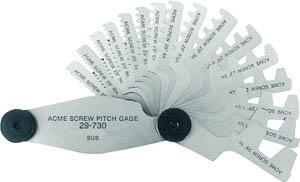 TRUSCO(トラスコ) アクメスクリューピッチゲージ 測定範囲2-20mm 12枚組【1個】【30720】(測定工具/ゲージ)
