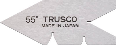 TRUSCO(トラスコ) センターゲージ 焼入品 測定範囲55°【1個】【55Y】(測定工具/ゲージ)