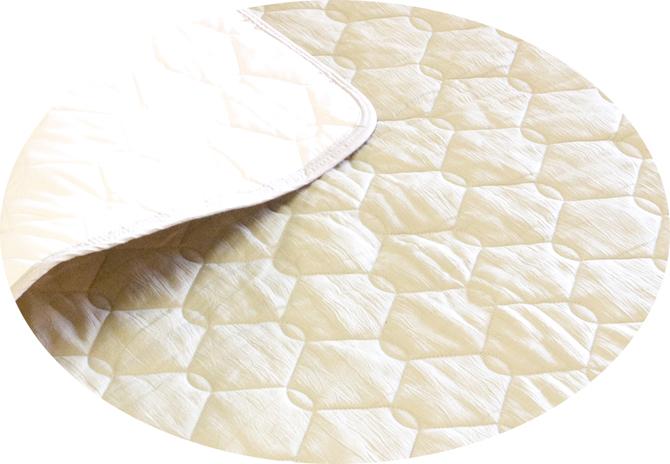 敷きパッド ダブル ひんやりとした感触!涼しい麻のパッド「しとね」ダブルサイズ
