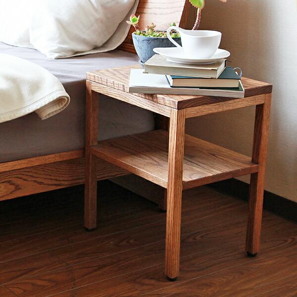 ナイトテーブル 木製 コルツ クルーズ オークライトブラウン 国産 日本製 ホワイトオーク無垢材 おしゃれ サイドテーブル 送料無料