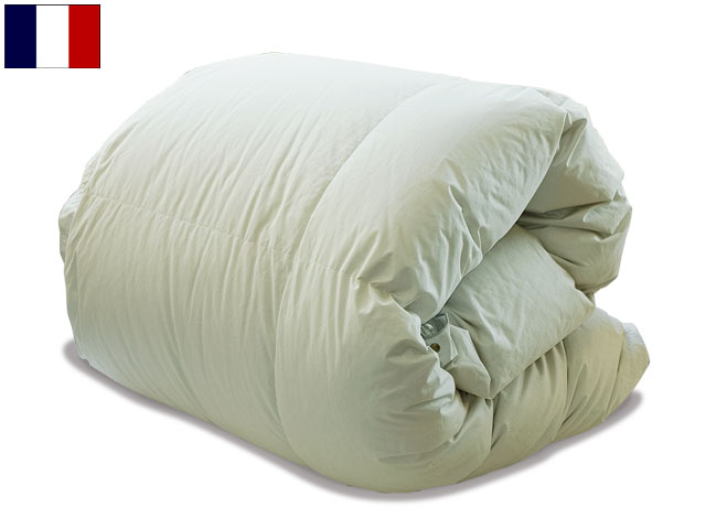 フレンチマザーペアタイプダウン羽毛布団ダブルサイズ(セミダブルベッド対応)
