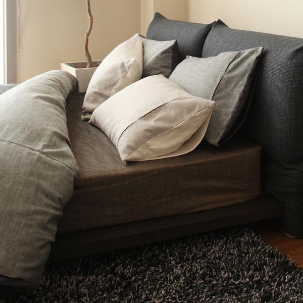 ベッドシーツ ジンバブエ・タック ボックスシーツ セミダブルサイズ(124×200×36cm) ベッドシーツ ベットシーツ コットン 綿100%