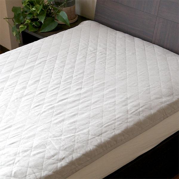 洗えるリネン敷きパッド クイーンサイズ