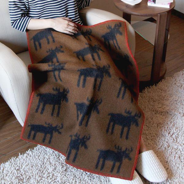 KLIPPAN(クリッパン)ウールブランケット ミニサイズ(65×90cm)ムース