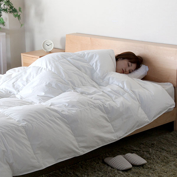 ベーシック肌掛け羽毛布団 【イングランドホワイトダウン93%】 セミダブルサイズ