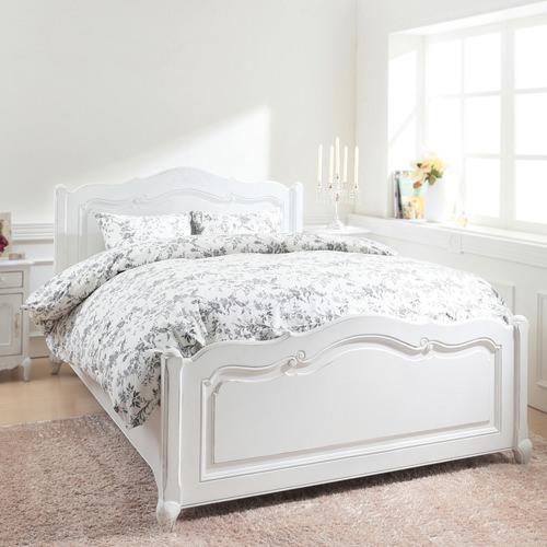 ベッド ベット ロー セミダブル ホワイト 幅:130cm~139cm 奥行き:200cm以上 高さ:30cm~39cm キャスター無し 既成品 エレガント カントリー デザイナーズ フレンチ ロマンチック セミダブル 木製 ボンネルコイル ローベッド 設置対応可 組立対応可 要組立品 日本 白