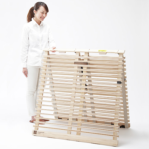ベッド ベット シングル 折りたたみ ベージュ 幅:100cm~109cm 奥行き:200cm以上 高さ:19cm以下 キャスター無し 既成品 シンプル デザイナーズ 和風 シングル 木製 ローベッド すのこ 完成品 日本 アイボリー 200cm 和風 シンプル シック モダン 天然木 桐 木 折り畳み