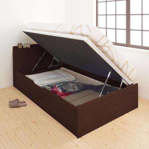 ベッド ベット 収納付き シングル ホワイト ブラウン ベージュ 幅:90cm~99cm 奥行き:200cm以上 高さ:80cm~89cm キャスター無し 既成品 カジュアル シンプル シングル 木製 ボンネルコイル すのこ 収納付き コンセント付き 棚付き 設置対応可 組立対応可 要組立品 木