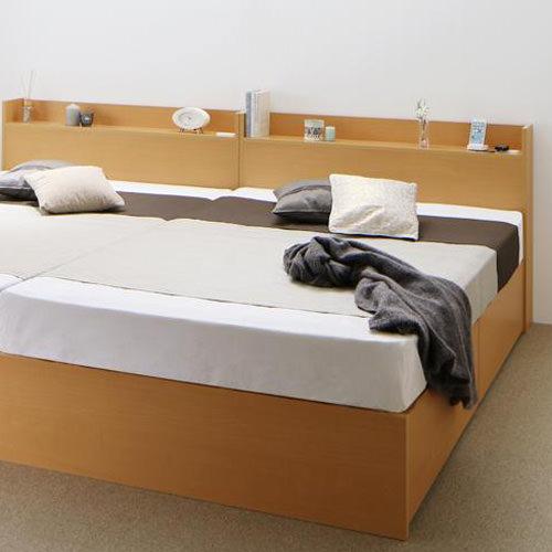 ベット 木製 棚付き すのこ ベージュ ポケットコイル 既成品 セミダブル キャスター無し ベッド 高さ:70cm~79cm ブラウン セミダブルサイズ 連結可能 クラシック 幅:120cm~129cm コンセント付き ホワイト シンプル 設置対応可 奥行き:200cm以上 ベーシック 収納付き