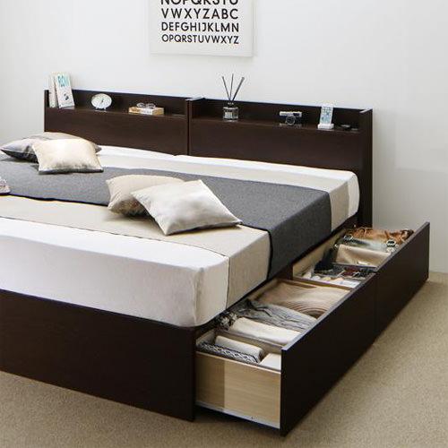 ベッド ベット 連結可能 シングル ホワイト ブラウン ベージュ 幅:90cm~99cm 奥行き:200cm以上 高さ:70cm~79cm キャスター無し 既成品 クラシック シンプル ベーシック シングル 木製 ボンネルコイル 収納付き コンセント付き 棚付き 設置対応可 組立対応可 要組立品 木