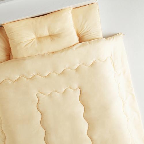 安心安全ほこりの出にくい 国産洗える布団3点セット (セミダブル)
