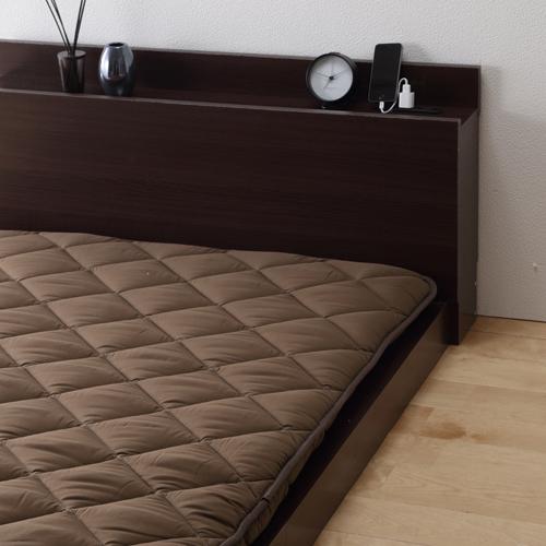 マットレスより取り扱い簡単なベッド専用 国産3層敷布団 (ダブル)