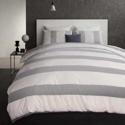 選べる5サイズ モダンボーダーデザインカバーリング ベッド用3点セット