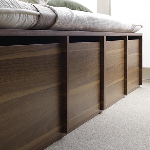 高さが選べる棚コンセント付デザイン収納ベッド 専用別売品引き出し