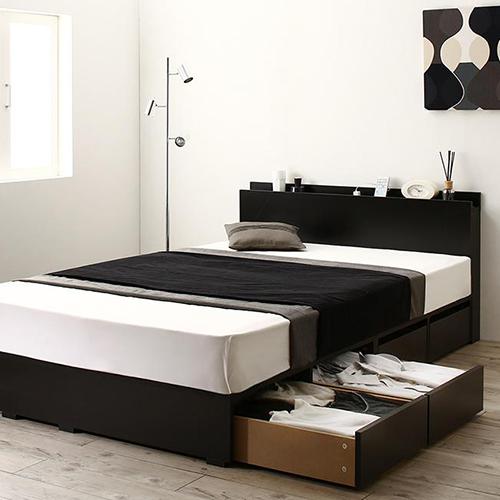 高さが選べる棚コンセント付デザイン収納ベッド 引き出し4杯 タイムセール お金を節約 セミダブル