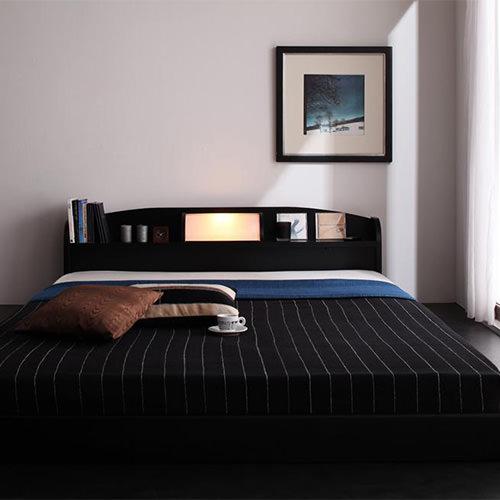 ベッド ダブル ロー 照明 シンプル ベット ダブルベッド ダブルサイズ ダブルタイプ フロア ロータイプ ステージ フロアベッド ステージベッド フロアタイプ ライト 照明付き 間接照明 ライト付き 間接照明付き クラシック モダン クラシックタイプ ローベッド 照明ベッド