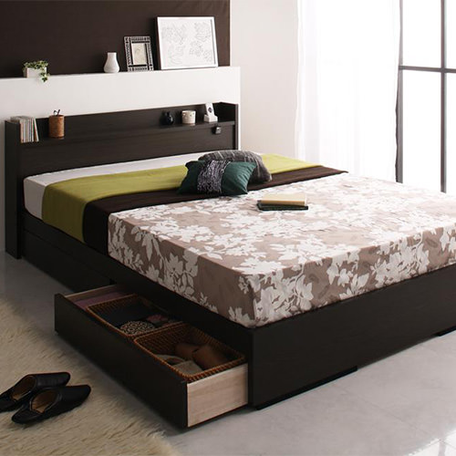 コンセント ベッド セミダブル 収納 シンプル ベット セミダブルベッド セミダブルサイズ セミダブルタイプ 収納付き 大容量 収納タイプ 収納つき 大容量ベッド コンセント付き コンセント付きベッド コンセントタイプ クラシック モダン クラシックタイプ 収納ベッド