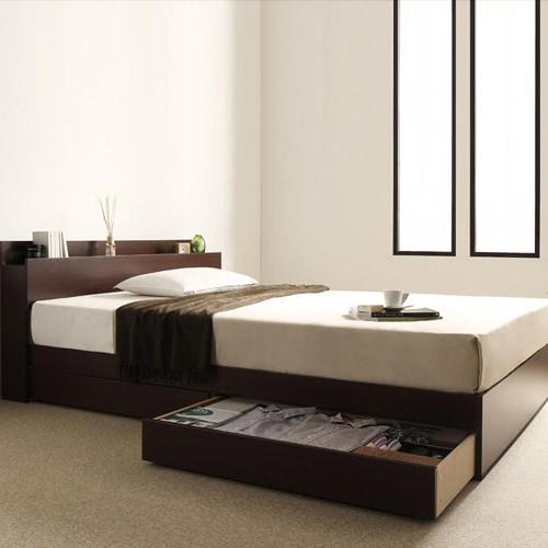 収納ベッド ダブル ウォルナット コンセント 大人 ベット 大容量 ベッド ダブルサイズ 収納付き コンセント付き かっこいい ダブルベッド 収納付きベッド スタイリッシュ ワンルーム 収納 シンプル 引き出し付き 収納ベット ダブルベット コンセント付きベッド 収納可能