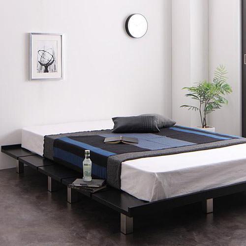 ベッド かっこいい セミダブル すのこ ロー ベット セミダブルベッド セミダブルサイズ セミダブルタイプ すのこタイプ すのこ板 すのこ式 すのこ式ベッド フロア ロータイプ ステージ フロアベッド ステージベッド フロアタイプ カッコいい スタイリッシュ 男前