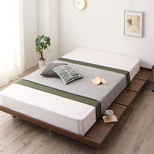 ベッド ロー セミダブル すのこ シンプル ベット セミダブルベッド セミダブルサイズ セミダブルタイプ すのこタイプ すのこ板 すのこ式 すのこ式ベッド フロア ロータイプ ステージ フロアベッド ステージベッド フロアタイプ クラシック モダン クラシックタイプ