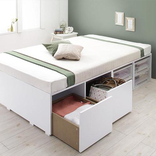 ベッド セミダブル 収納 引き出し かわいい ベット セミダブルベッド セミダブルサイズ セミダブルタイプ 収納付き 大容量 収納タイプ 収納つき 大容量ベッド 引き出し付き チェスト チェストベッド チェスト付き 引き出しタイプ かわいいタイプ 収納ベッド 引き出しベッド