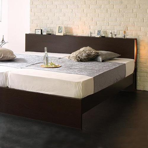 ベッド ダブル 照明 すのこ シンプル ベット ダブルベッド ダブルサイズ ダブルタイプ ライト 照明付き 間接照明 ライト付き 間接照明付き すのこタイプ すのこ板 すのこ式 すのこ式ベッド クラシック モダン クラシックタイプ 照明ベッド すのこベッド シンプルベッド