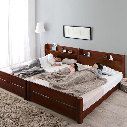 ベッド キング カントリー すのこ ファミリー ベット キングベッド キングサイズ キングタイプ すのこタイプ すのこ板 すのこ式 すのこ式ベッド 大きめ 大きいサイズ 親子 家族 シングル2台 ファミリーサイズ カントリータイプ すのこベッド ファミリーベッド