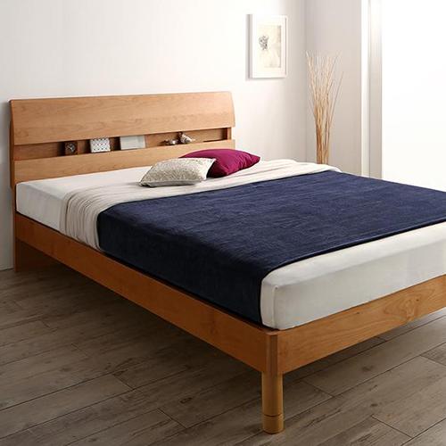 妥協のない機能性とデザイン 棚コンセント付デザインベッド (シングル)