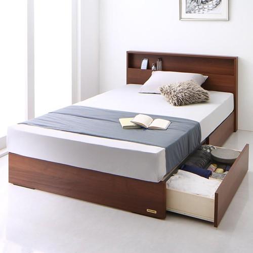 確かな品質 フランスベッド純国産ライト付き収納ベッド (シングル)