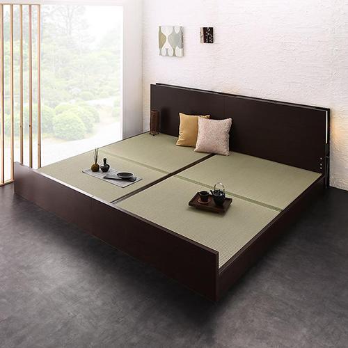 特別な安らぎと使い心地を実現 高さ調整できる国産畳ベッド (連結タイプ)