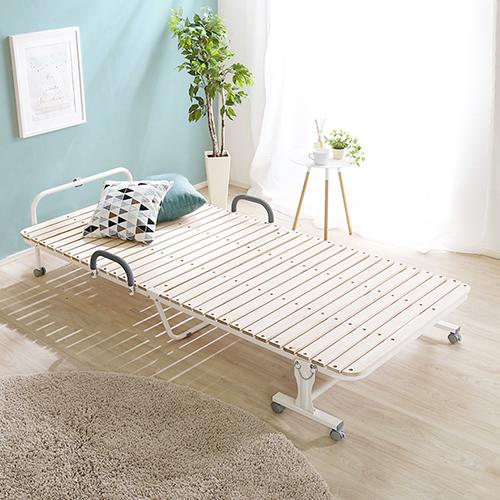 天然桐すのこ仕様で快適空間 折りたたみすのこベッド (シングル)