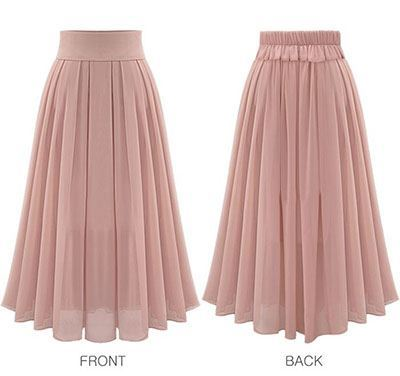 41d5ccb90fa ... Chiffon flared skirt Maxi-length long-length spring skirt its spring  summer women s ...