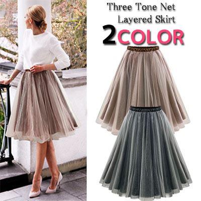 110ad4ef2a Tulle skirt MIME length its Tutu knee on MIDI short summer women's spring  ...