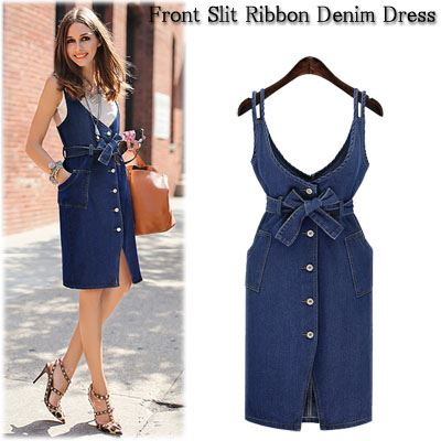 e2aec2d29 Denim Jumper Dress Knee Length - Dress Foto and Picture