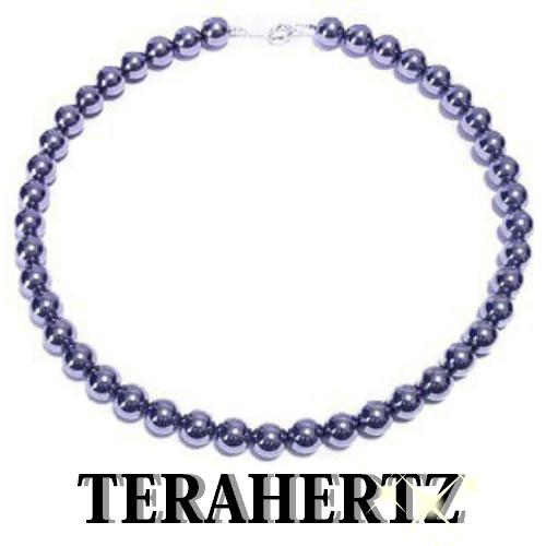 【健康寿命をサポート】最高級品質 テラヘルツ 10mm丸玉ネックレス【長さ約45cm】金具SV925・ロジウムメッキステンレスワイヤー使用 【送料無料】公的機関で品質を調べたテラヘルツです。安心をお届けします。
