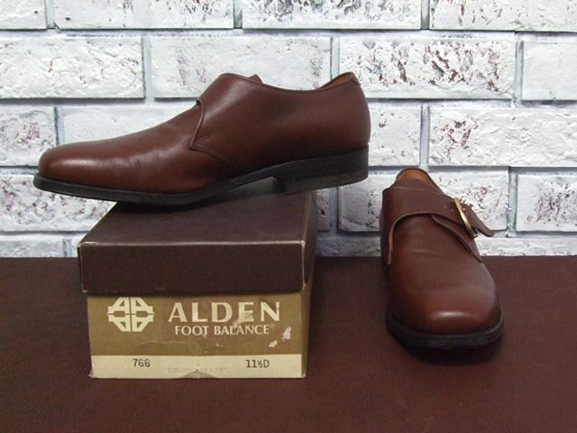 Alden #766 monk strap shoes /BROWN (2)