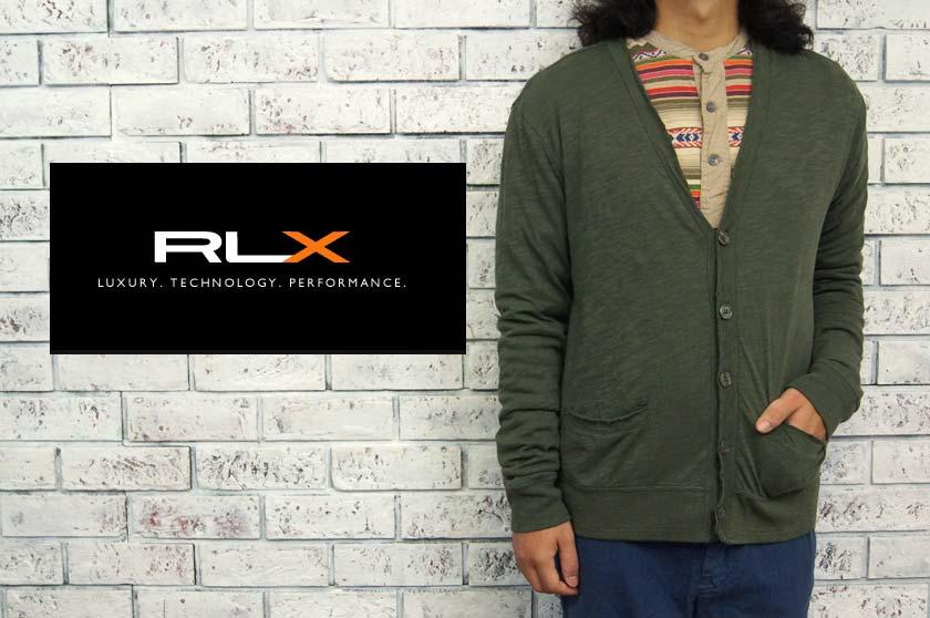 RLX  ラルフローレン RLX ピマコットン ライナー サーマル カーディガン/OLIVE  あす楽