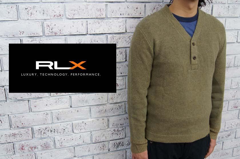 RLX  ラルフローレン RLX ラム&メリノ ウール ヘンリーネック ミリタリー セーター  あす楽