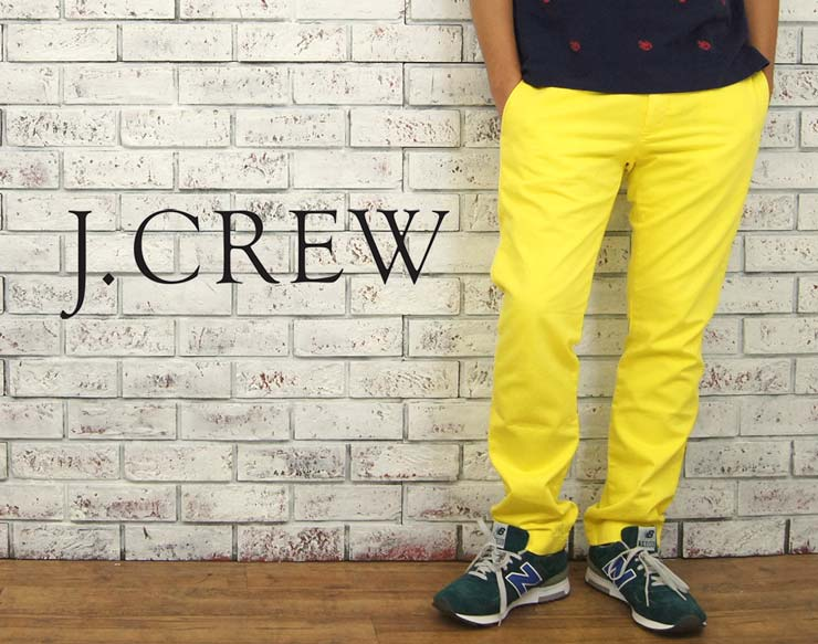 47ecec7dfa1d BEEF  J.CREW J. Crew 484 SLIM FIT SUNFADED chino pants  YELLOW ...
