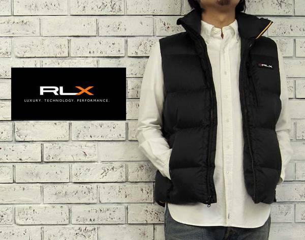 RLX  ラルフローレン RLX リップストップ ダウン ベスト/BLACK