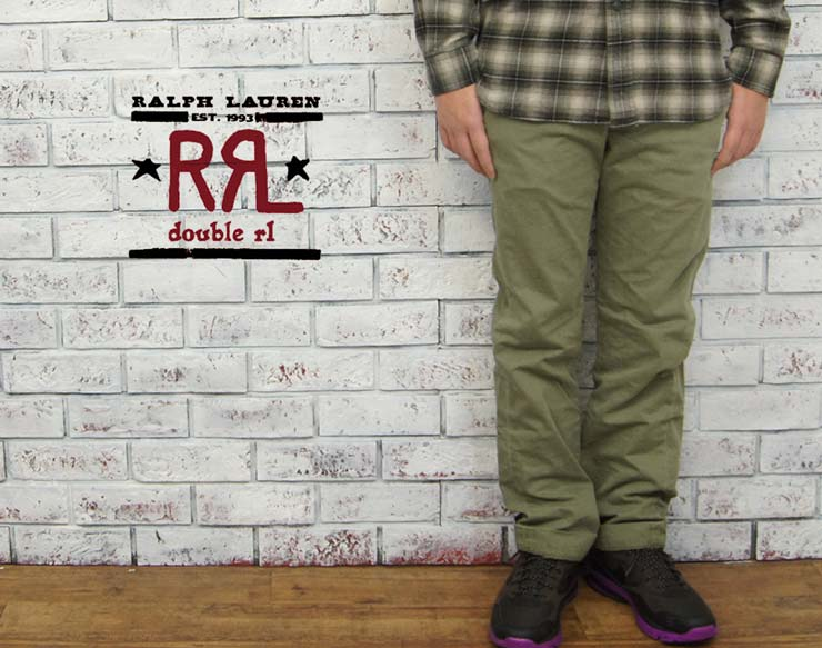 Ralph Lauren DOUBLE RL STDM 2 TROUSERS OFFICERS FIELD Chino pants