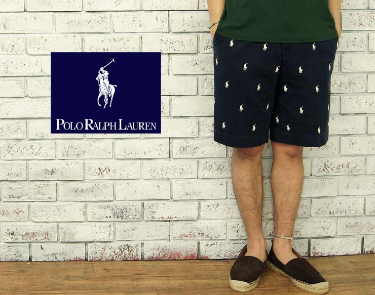Multi Lauren Navy Pony Embroidery Chino Shorts Ralph 9IYHE2WD