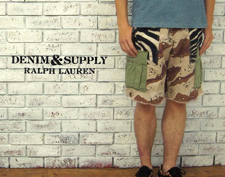【DENIM&SUPPLY by Ralph Lauren】 デニム&サプライ クレイジーパッチ カットオフ カーゴショーツ【あす楽】