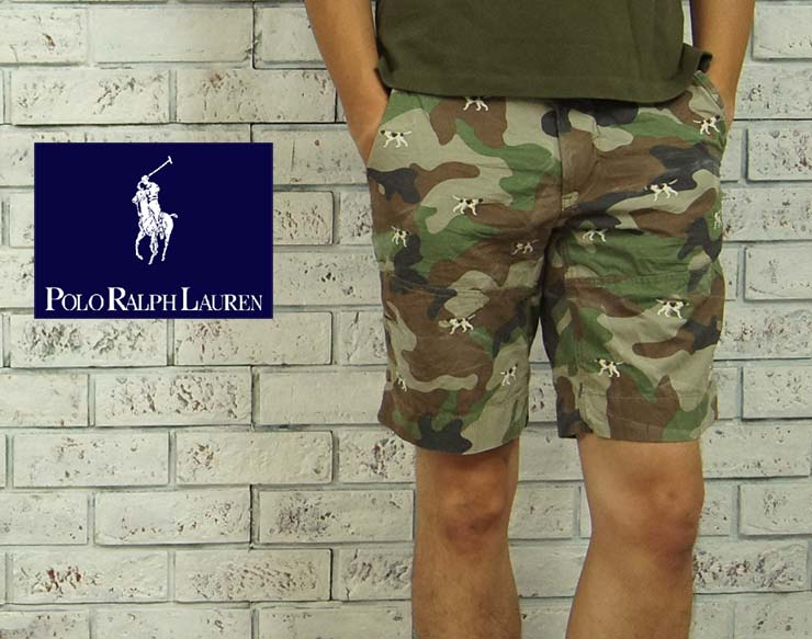 Ralph Lauren multi hound dog embroidered CAMO shorts / FIT
