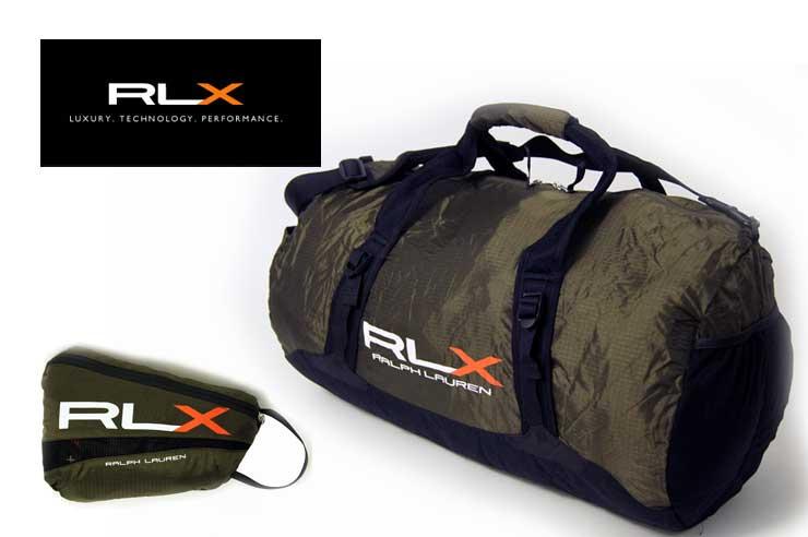 RLX ナイロン 軽量 パッカブル ドラムバッグ オリーブ あす楽