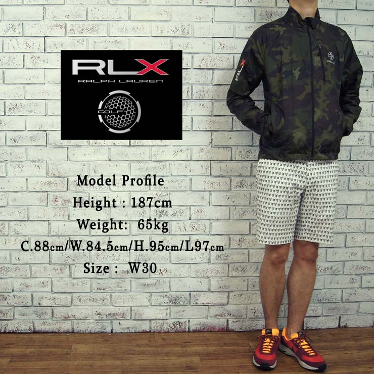 Ralph Lauren RLX GOLF skull shorts/white