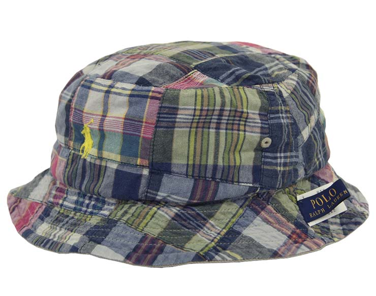 165c49fe250ae ... Patchwork Reversible Bucket Hat. Beef Polo By Ralph Lauren Madras Check  Patchwork
