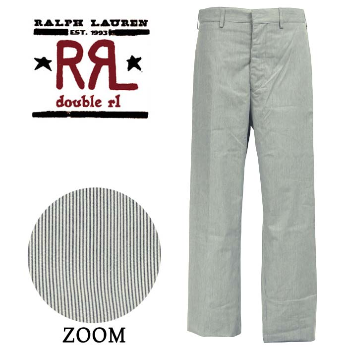 RRL Ralph Lauren double Aurel Hickory stripe buckle back with pants